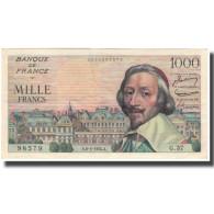 France, 1000 Francs, Richelieu, 1954, 1954-05-06, SUP+, Fayette:42.5, KM:134a - 10 NF 1959-1963 ''Richelieu''