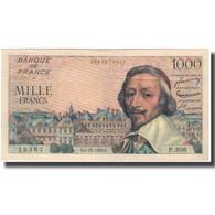 France, 1000 Francs, Richelieu, 1956, 1956-12-06, SUP, Fayette:42.24, KM:134a - 10 NF 1959-1963 ''Richelieu''