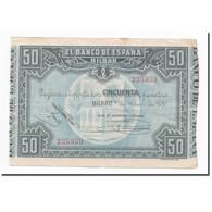 Billet, Espagne, 50 Pesetas, 1937, 1937-01-01, KM:S564, TTB - 50 Pesetas