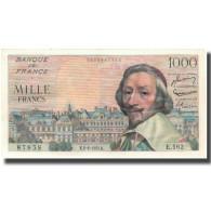 France, 1000 Francs, Richelieu, 1955, 1955-06-02, SUP+, Fayette:42.14, KM:134a - 10 NF 1959-1963 ''Richelieu''