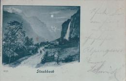 Lauterbrunnen BE, Staubbach Au Clair De Lune (9123) - BE Berne