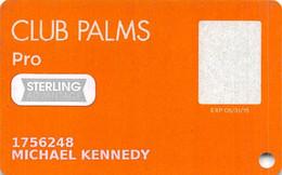 Palms Casino Las Vegas NV - Slot Card With Sterling Senior Stickers - Cartes De Casino