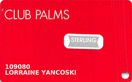 Palms Casino Las Vegas NV - Slot Card With Sterling Senior Stickers - Carte Di Casinò