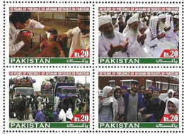 PAKISTAN, 2020, MNH, REFUGEES, 40 YEARS OF PRESENCE OF AFGHAN REFUGEES IN PAKISTAN, TRUCKS, DOCTORS, 4v - Other
