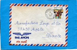 Marcophilie- BURKINA-lettre >Françe Cad  1987 -Thematics Stamps-N°603 Santé Pour Tous - Burkina Faso (1984-...)