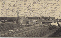FRANCE - TRES RARE - LIBRAMONT - Inérieur De La Gare - (Train à Vapeur) 1917 - Libramont-Chevigny