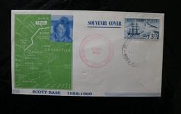 New Zealand Ross Dep L1 Ship Endeavour Scott Base Souvenir Cover 1960 A04s - Covers & Documents