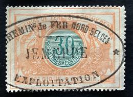 TR32 - Gestempeld CHEMINS DE FER NORD BELGES JEMEPPE EXPLOITATION - 1895-1913