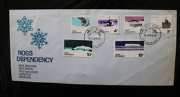 New Zealand Ross Dep L9-14 Definitives Skua Airfield Shack Ship Scott Base Ice 1972 A04s - Covers & Documents