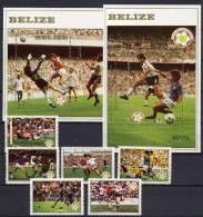 Belize 1982 Football Soccer World Cup Set Of 6 + 2 S/s MNH - 1982 – Espagne