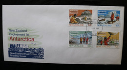 New Zealand Antarctic Research Geology Biology Glaciology Meteorology Day Of Issue Cancel 1972 A04s - Covers & Documents