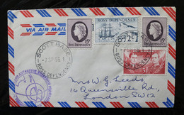 Ross Dependency Decimal Currency Ship Erubus Shackeleton And Ross Special Cachets And  Cancels Autograph 1968 A04s - Covers & Documents
