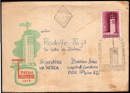 Hongrie - 1958 - Lettre - Air Mail - TV Hongrie - A1RR2 - Briefe U. Dokumente
