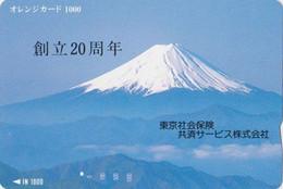 Carte Orange JAPON - Paysage - MONT FUJ - Landscape Mountain - JAPAN Prepaid JR Card  - 377 - Montagne