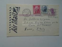 D179105 USA Postal Stationery-1965 Lafayette Ind.  Purdue University - Joseph F. Foster  To Dr. Jeffries Wyman -Rome - 1961-80