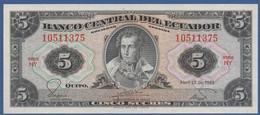 ECUADOR  - P.108b HY(1) – 5 Sucres 20.04.1983 UNC Series HY - Ecuador