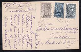 Austria - PPC Graz Banking Hall - 720k Franking To Trieste - Covers & Documents