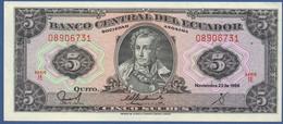 ECUADOR  - P.113d IE – 5 Sucres 22.11.1988 UNC Series IE - Ecuador