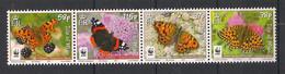 Isle Of Man - 2011 - 4 Valeurs - Papillons / Butterflies - Neuf Luxe ** / MNH / Postfrisch - Schmetterlinge