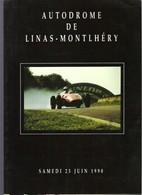 Plaquette Vente Aux Enchères Osenat 1990 à L'Autodrome De Linas-Montléry Voitures De Course Et De Sport Vintage - Automobilismo - F1