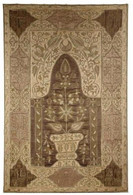 Très Ancienne Tapisserie Religieuse Islamique - Fin 1700  **** Old Islamic Mihrab Mosque Tapestry - Approx. 1200 Hegira - Rugs, Carpets & Tapestry