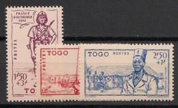 Togo - 1941 - N°Yv. 208 à 210 - Défense De L'empire - Neuf Luxe ** / MNH / Postfrisch - Nuevos
