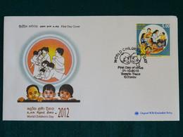 Sri Lanka 2012 World Children's Day SOS Kinderdorf FDC VF - Sri Lanka (Ceylon) (1948-...)