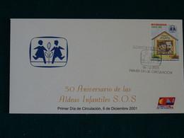 Nicaragua 2001 SOS Kinderdorf FDC VF - Nicaragua