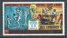 Comores YT N°258 Coupe Du Monde De Football Argentina 78 Surchargé République Fédérale Islamique Des Comores Neuf ** - Isole Comore (1975-...)