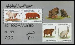 Somalia 1989 - Mi-Nr. Block 25 ** - MNH - Wildtiere / Wild Animals - Somalia (1960-...)