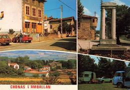 38 Chonas L' Amballan Carte 4 Vues Multivues Voiture Auto Citroen Ami Renault 6 Camion - Otros Municipios