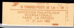 France Carnet 2102 C6 Sabine De Gandon Fermé - Definitives
