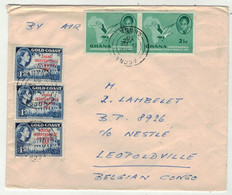 Ghana // Lettre Pour Leopoldville (Congo Belge) - Ghana (1957-...)