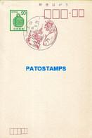 159869 JAPAN NIPPON FISH CANCEL YEAR 1924 POSTAL STATIONERY POSTCARD - Sin Clasificación