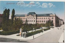 Post Card :  Lublana Ljubljana (Slovenia)  Kralja Petra Trg Sodiscem   .   1926  Stamps - Slovenia