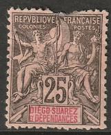 Diego Suarez 1892 Sc 32 Yt 32 MH* Damage At Top/some Disturbed Gum - Unused Stamps