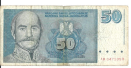 YOUGOSLAVIE 50 NOVIH DINARA 1996 VG P 151 - Yugoslavia