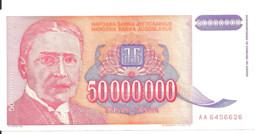 YOUGOSLAVIE 50 MILLION DINARA 1993 XF P 133 - Yugoslavia