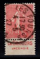 Publicite - YV 199 Oblitere Avec Pub Le Secours Au Sud - Publicidad