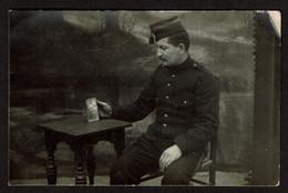 Carte Photo 1915 - J. LEONARD Interné Au Camp De ZEIST - 2 Scans - Weltkrieg 1914-18