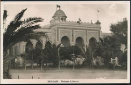 °°° 27345 - LIBYA - BENGASI - PALAZZO LITTORIO - 1937 With Stamps °°° - Libya