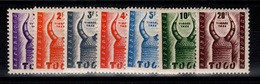 Togo - Taxe YV 48 à 54 N**Casque - Togo (1960-...)