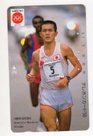 JAPON TELECARTE SPORT VAINQUEUR Du  MARATHON De CHICAGO 1986 Toshihiko SEKO Coureur De Fond - Deportes