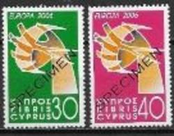 Chypre 2006 N° 1085/1086 Surchargés Specimen Neufs Europa L'intégration - 2006