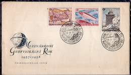 Tchécoslovaquie - 1958 - FDC - Année Géophysique Internationale - A1RR2 - Klima & Meteorologie