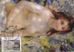 CM Netherlands Carte Maximum Maximum Card Auguste Renoir  Nude Akt - Nudes