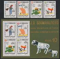 Somalia 1979 - Mi-Nr. 278-281 & Block 8 ** - MNH - Kinderzeichnungen - Somalia (1960-...)
