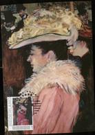 CM Carte Maximum  Maximum Card Toulouse Lautrec Madame Moulin Rouge - Impressionisme