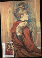 CM Carte Maximum  Maximum Card Toulouse Lautrec Jung Lady With Stola - Impressionisme