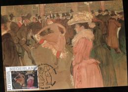 CM Carte Maximum  Maximum Card Toulouse Lautrec Ball In De Moulin Rouge - Impressionisme